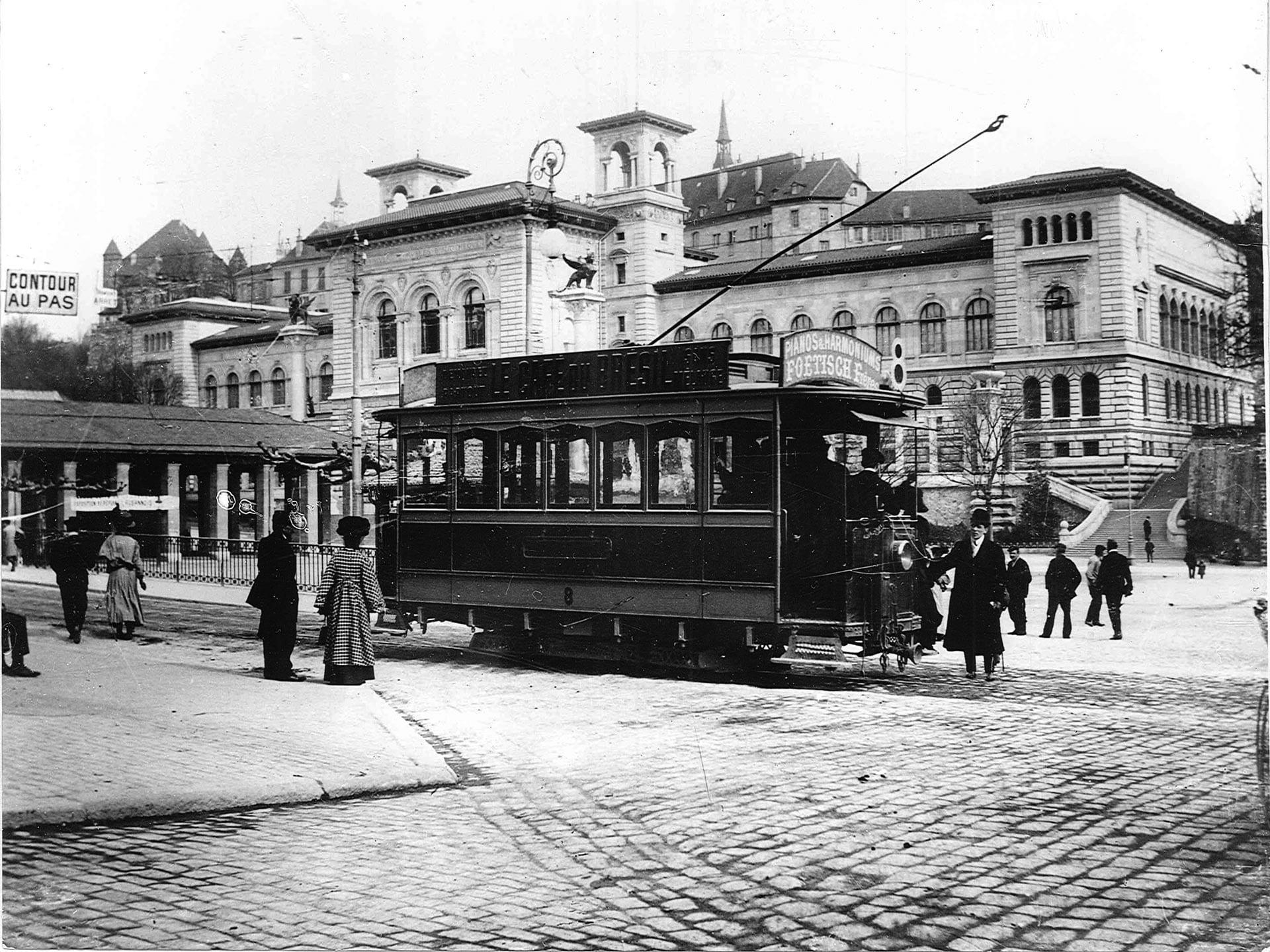 Tramway lausannois Riponne