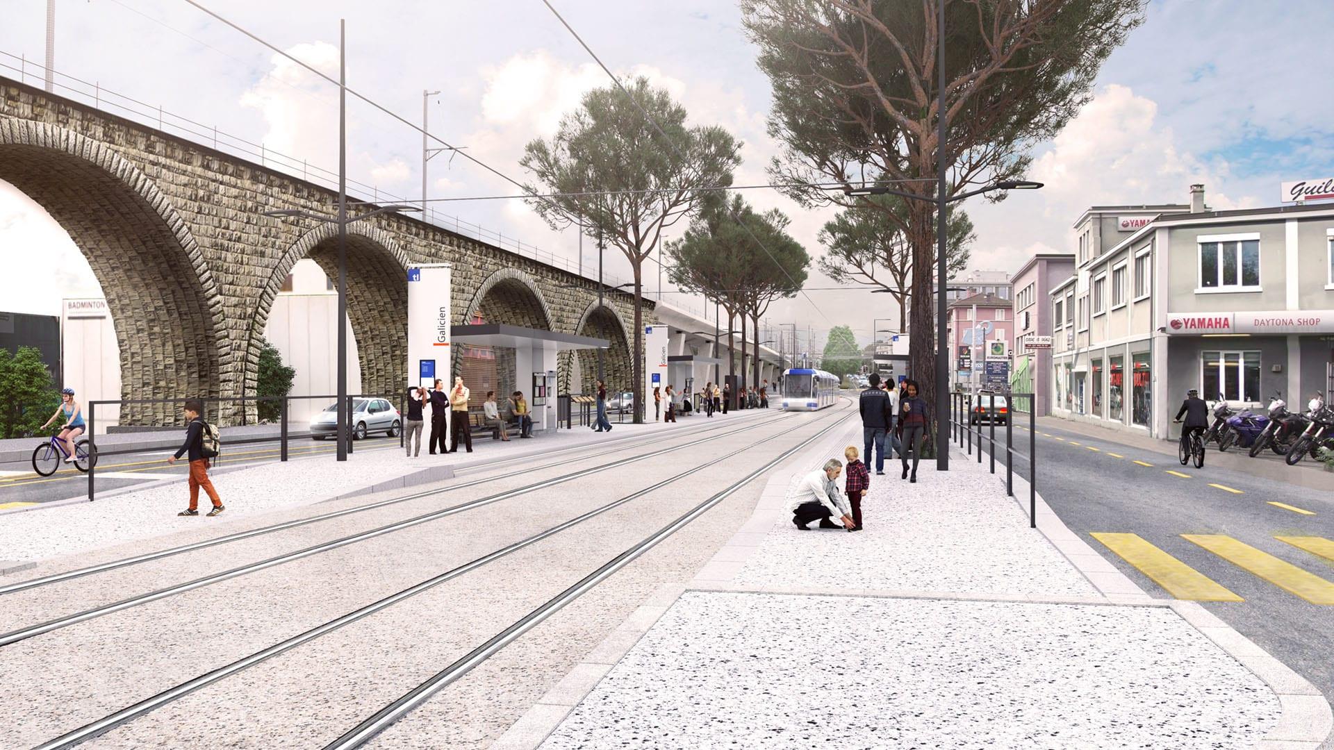 Station Galicien vue au sol