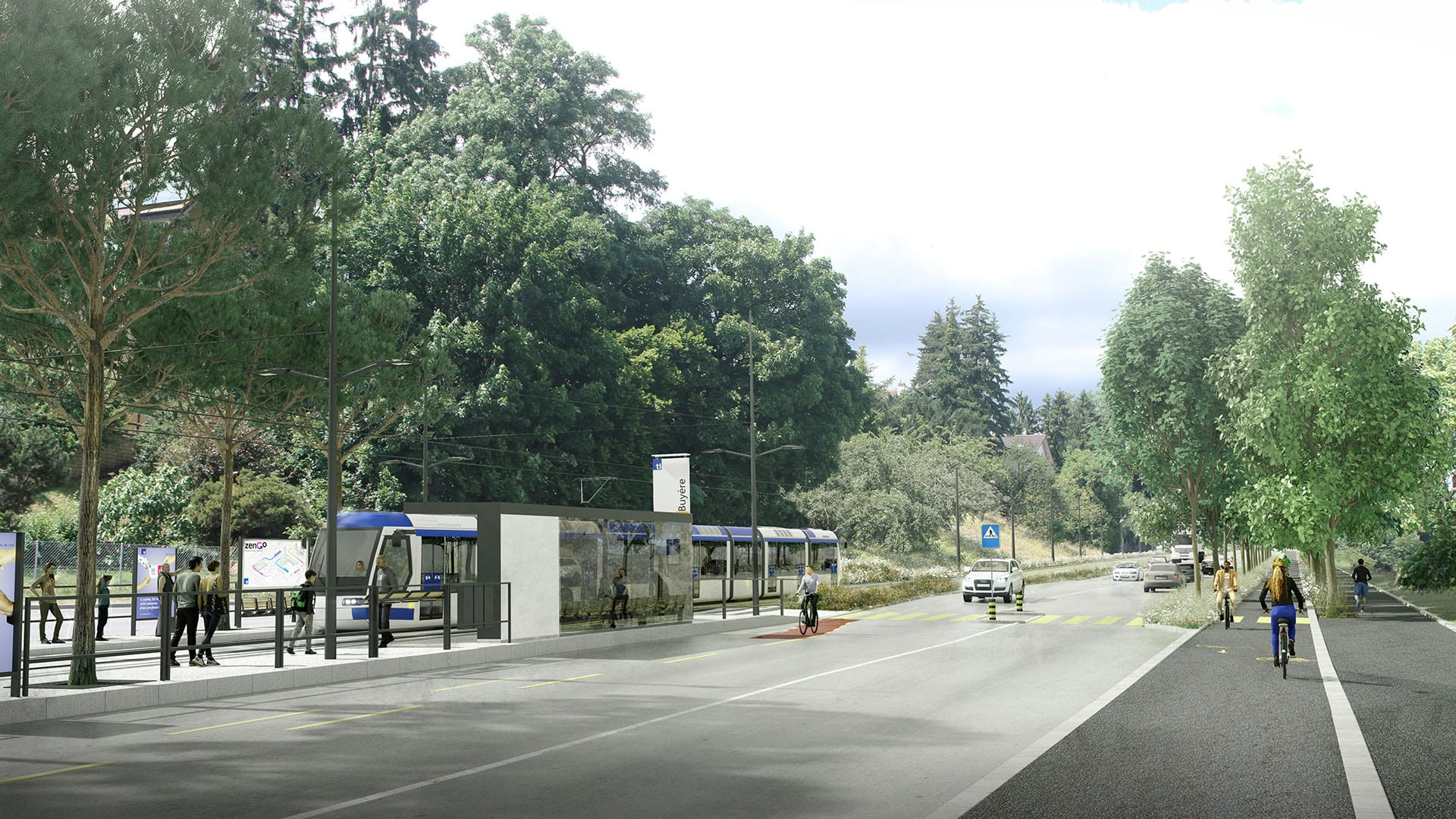 Buyère - Tramway lausannois