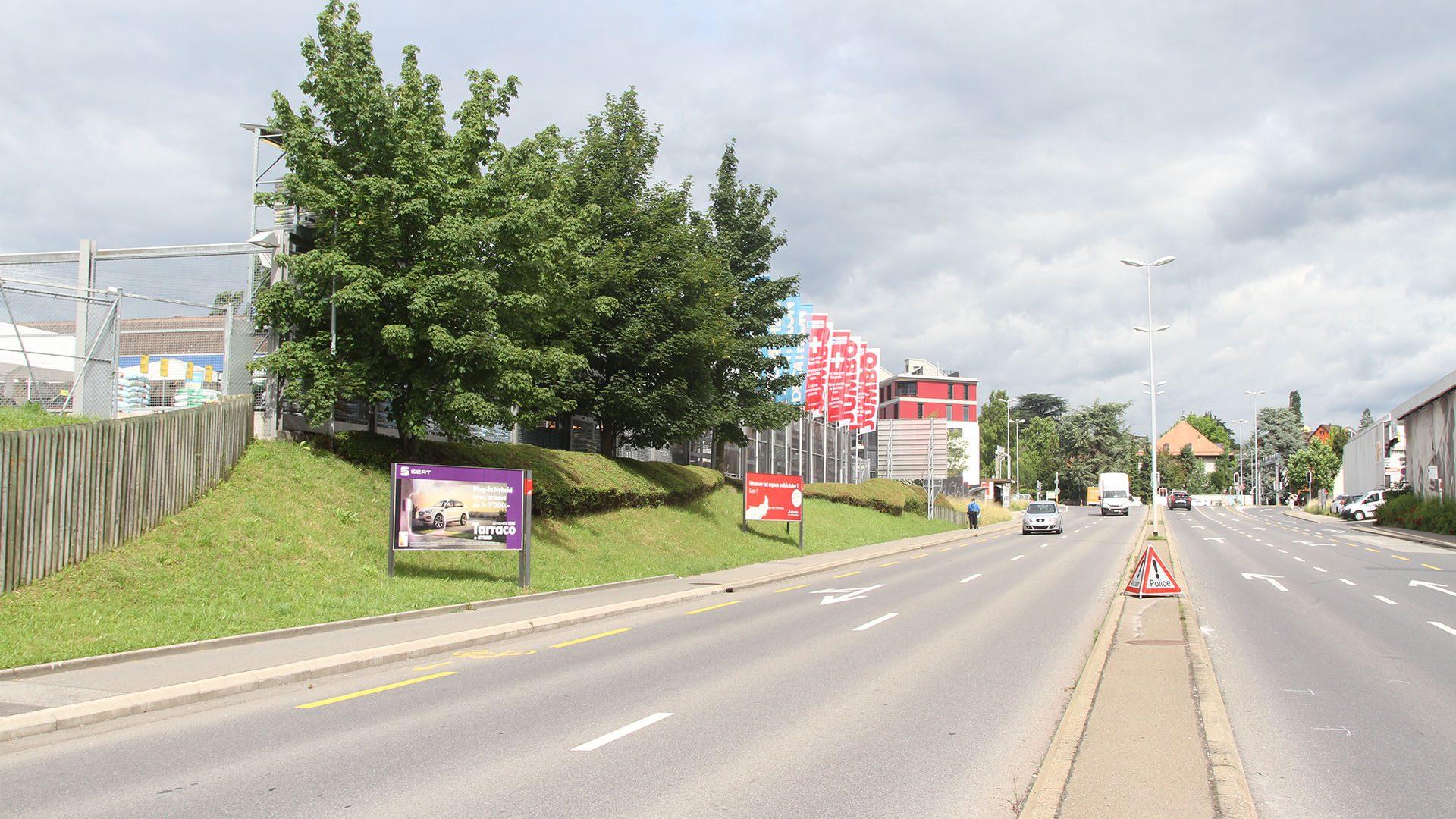 Boulevard Arc en Ciel vue sol - Tramway Lausannois