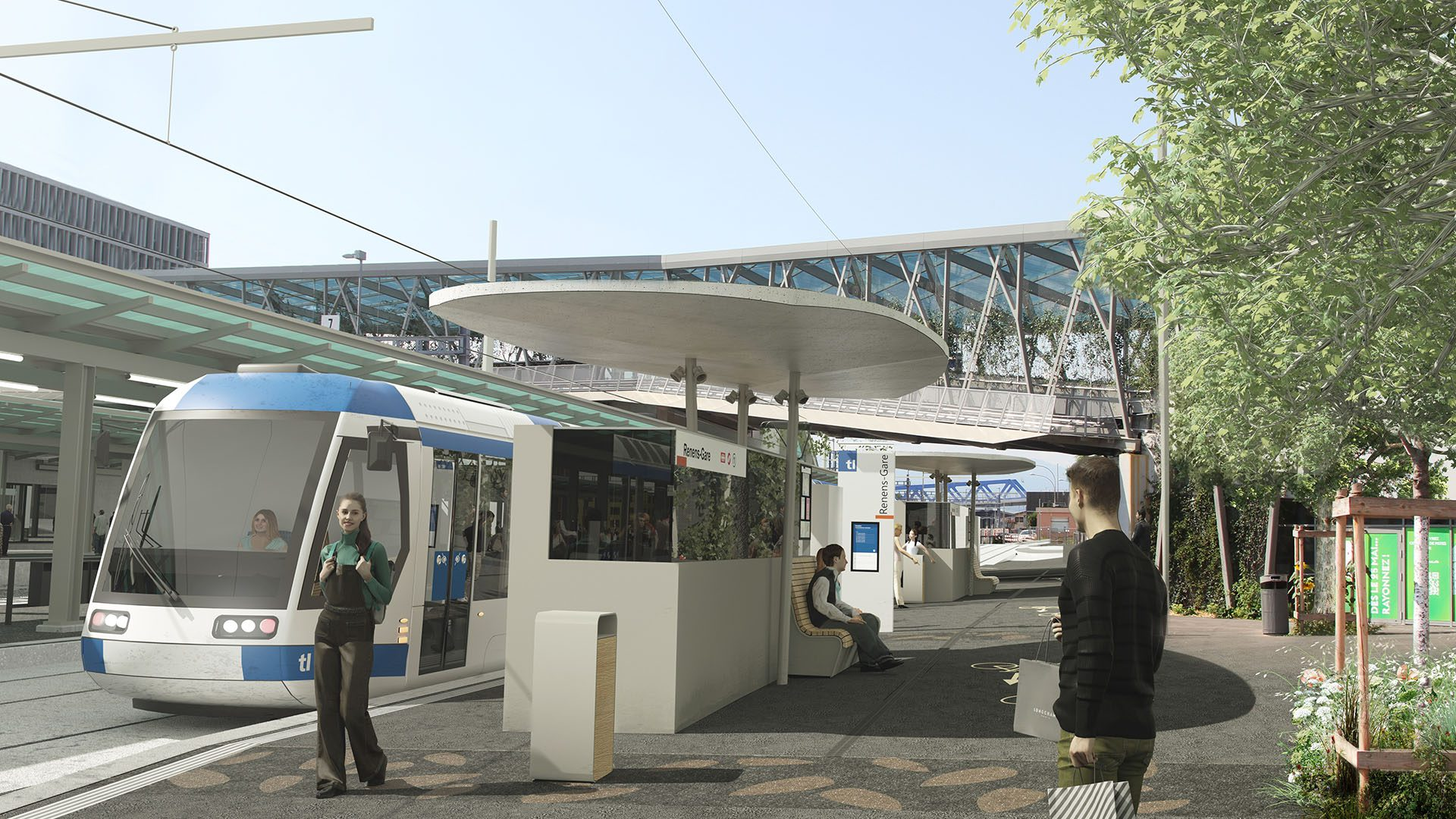 Tramway Lausannois - Renens Gare - Projet
