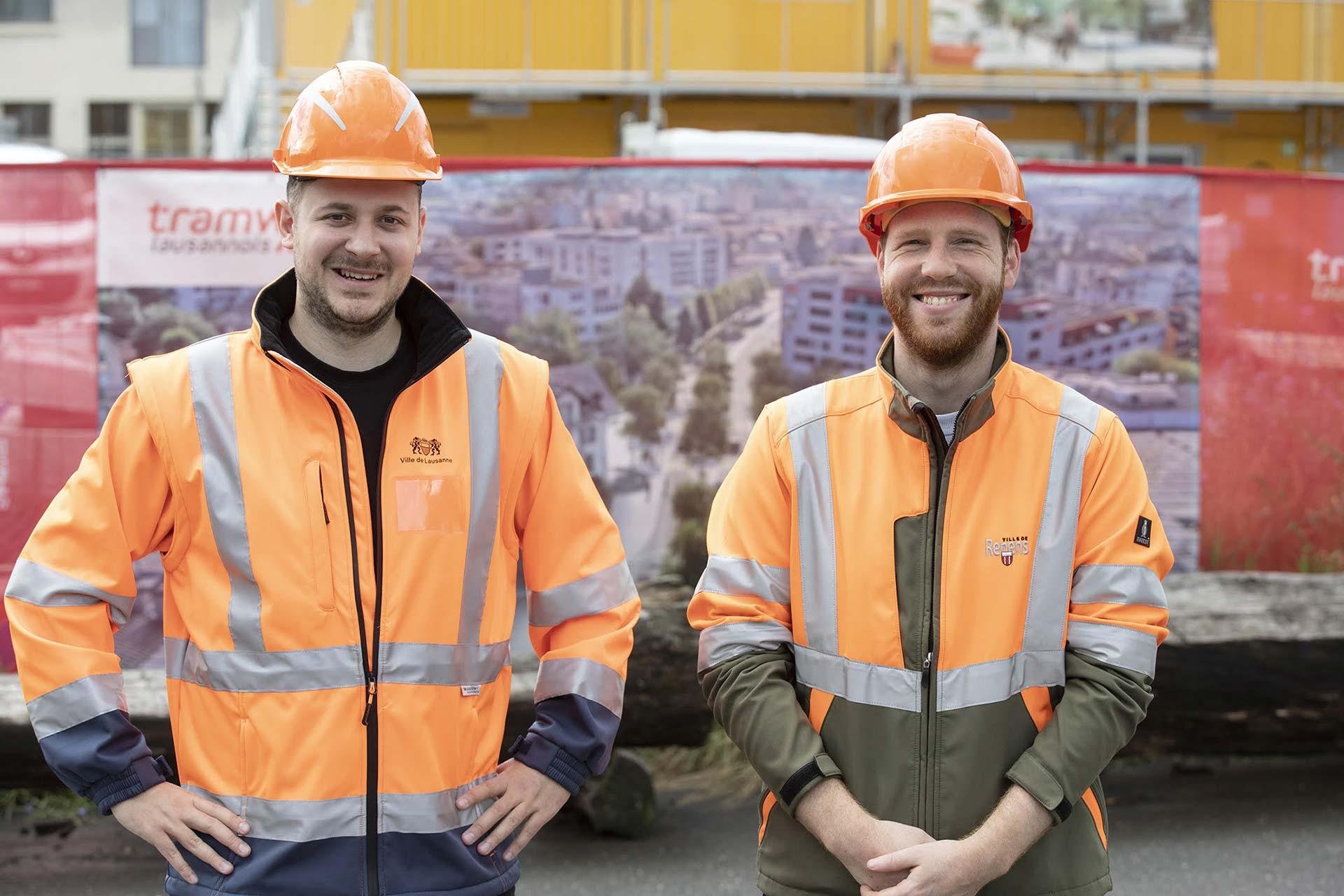 Nos médiateurs chantiers, Baptiste Rochat et Jonas Kocher