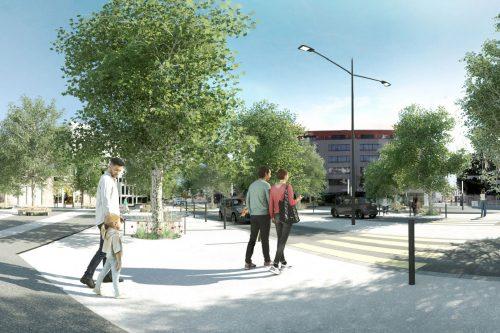 Renens Place du marché - Tramway lausannois